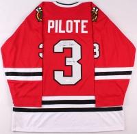 "Pierre Pilote Signed Blackhawks Jersey Inscribed ""H.O.F. 75"" (JSA COA) at PristineAuction.com"
