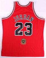 """Michael Jordan Signed Bulls Hall of Fame LE Authentic Jersey Inscribed """"2009 HOF"""" (UDA COA) at PristineAuction.com"""