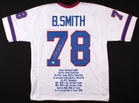 Bruce Smith Signed Bills Career Highlight Stat Jersey (JSA COA) at PristineAuction.com