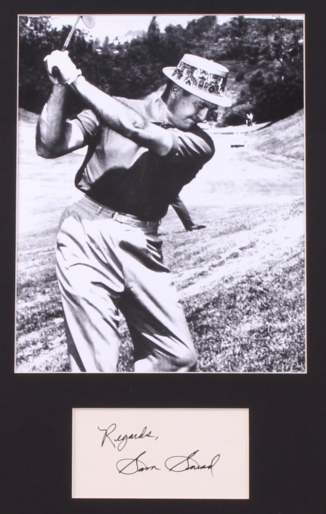 sam snead signed 14x18 custom framed display inscribed. Black Bedroom Furniture Sets. Home Design Ideas