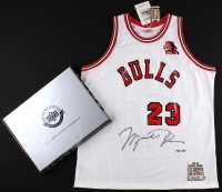 Michael Jordan Signed LE Authentic Mitchell & Ness 1984-85 Bulls Rookie Jersey with ROY Patch #67/123 (UDA COA) at PristineAuction.com