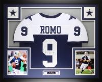 """Tony Romo Signed Cowboys 35"""" x 43"""" Custom Framed Jersey (JSA COA) at PristineAuction.com"""