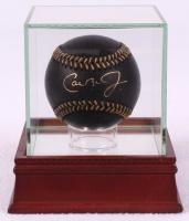 Cal Ripken Jr. Signed Black Leather OML Baseball with High Quality Display Case (PSA COA) at PristineAuction.com
