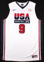 "Michael Jordan Signed Team USA ""Dream Team"" Nike Authentic Jersey Inscribed ""2009 HOF"" (UDA COA) at PristineAuction.com"