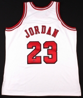 Michael Jordan Signed Bulls Mitchell & Ness Throwback Authentic Jersey (UDA COA)
