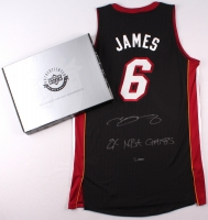 """LeBron James Signed Miami Heat Authentic Adidas Away Jersey Inscribed """"2x NBA Champs"""" (UDA COA) at PristineAuction.com"""