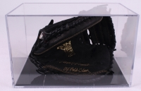 """Johnny Bench Signed Rawlings Full-Size Pro Model Catchers Mitt Inscribed """"16 x Gold Glove"""" with Display Case (PSA COA) at PristineAuction.com"""