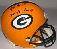 "Brett Favre Signed LE Packers Full-Size Helmet Inscribed ""Last To Wear 4"" #16/44 (Favre Hologram & COA) at PristineAuction.com"