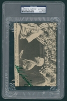 Will Harridge & Lefty Grove Signed 4x6 Cut (PSA Encapsulated) at PristineAuction.com