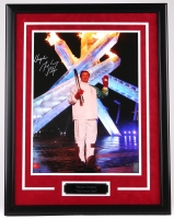 """Wayne Gretzky Signed 22"""" x 29"""" LE Custom Framed 16"""" x 20"""" Olympic Torch Photo Display #99/199 (Gretzky COA) at PristineAuction.com"""