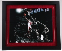 """Michael Jordan Signed LE 27"""" x 23"""" Custom Framed 20"""" x 16"""" """"Colors of the Game"""" Photo Display #22/123 (UDA COA) at PristineAuction.com"""
