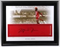 "Michael Jordan Signed ""Gatorade Dunk"" 26x36 LE Custom Framed Authentic Game-Used Floor Piece (UDA COA) at PristineAuction.com"