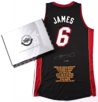 """LeBron James Signed Miami Heat Authentic Adidas """"10th Anniversary"""" Custom Embroidered Away Jersey #7/50 (UDA COA) at PristineAuction.com"""