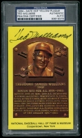 Ted Williams Signed Gold HOF Postcard (PSA Encapsulated) at PristineAuction.com