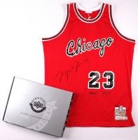 """Michael Jordan Signed LE Authentic Mitchell & Ness 1984-85 """"Rookie of the Year"""" Bulls Jersey #23/223 (UDA COA) at PristineAuction.com"""