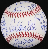 1975 Red Sox OML Baseball Team-Signed by (22) with Carlton Fisk, Jim Rice, Fred Lynn, Bill Lee, Luis Tiant, Rico Petrocelli (JSA COA) at PristineAuction.com