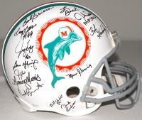 1972 Dolphins Super Bowl Champion Team-Signed Full-Size Authentic Pro Line Helmet with (27) Signatures Including Bob Griese, Mercury Morris, Larry Little, Jim Kiick, Jake Scott (JSA COA) at PristineAuction.com