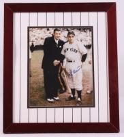 Yogi Berra Signed Yankees 14x16 Custom Framed Photo Display with Babe Ruth (JSA COA) at PristineAuction.com