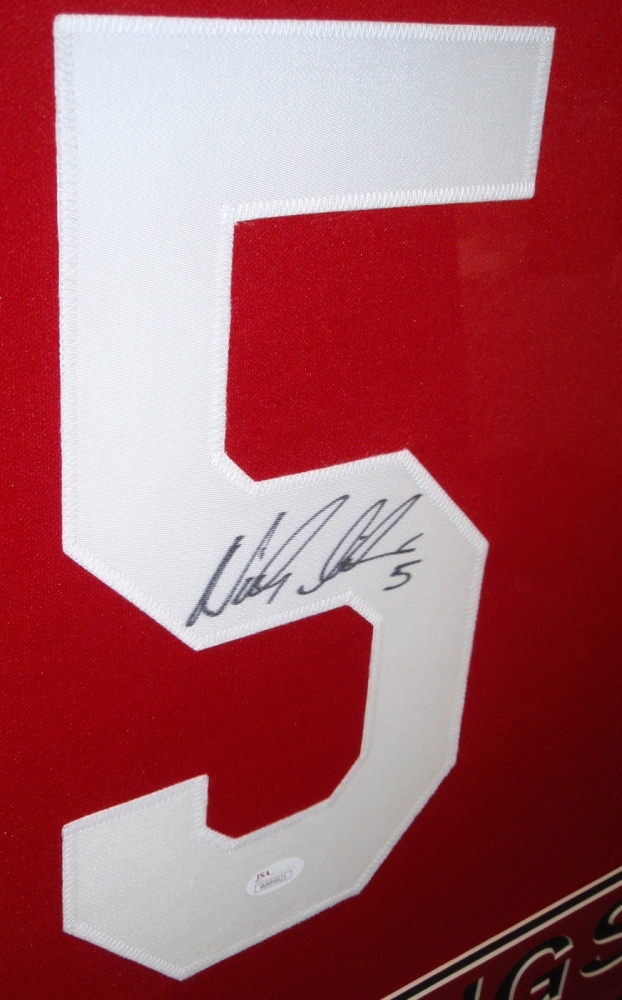 Nicklas Lidstrom Signed Red Wings 35x43 Custom Framed Jersey (JSA ...