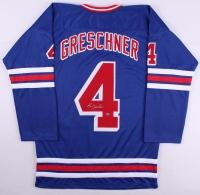 Ron Greschner Signed Rangers Jersey (Leaf COA) at PristineAuction.com