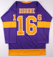 """Marcel Dionne Signed Kings Jersey Inscribed """"HOF 92"""" (Leaf COA) at PristineAuction.com"""