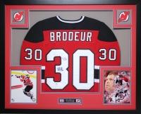 Martin Brodeur Signed Devils 35x43 Custom Framed Jersey (PSA COA) at PristineAuction.com