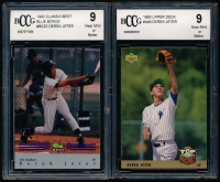 Lot of (2) Derek Jeter Graded Baseball Cards with 1992 Classic/Best Blue Bonus #BC22 (BCCG 9) & 1993 Upper Deck #449 RC (BCCG 9) at PristineAuction.com