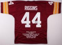 John Riggins Signed Redskins Career Highlight Stat Jersey (JSA COA) at PristineAuction.com