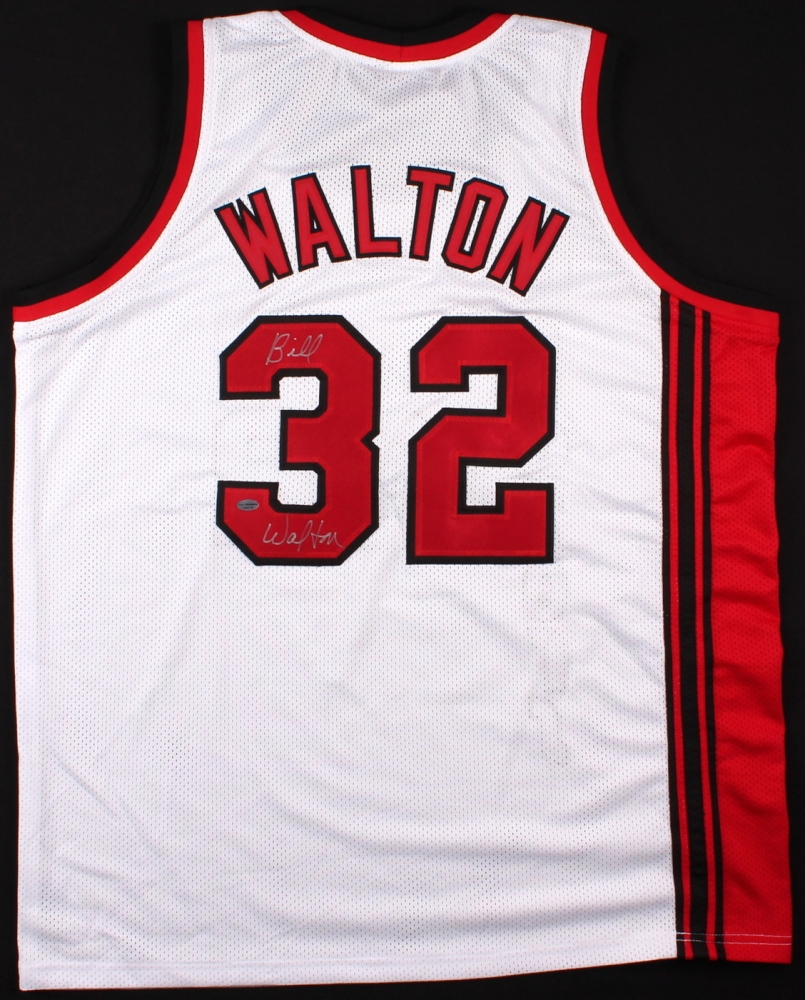 Bill Walton Signed Throwback Trail Blazers Jersey (Leaf COA) At Pristine Auction