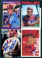 Lot of (4) Darren Daulton Signed Baseball Cards (PA LOA) at PristineAuction.com