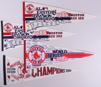 Lot of (4) Original Vintage Red Sox Champions Pennants at PristineAuction.com