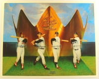 Triple Crown Winners 25x20 Lithograph with (4) Facsimile Signtures Including Mickey Mantle, Ted Williams, Carl Yastrzemski & Frank Robinson at PristineAuction.com