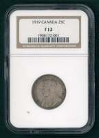 1919 Canada 25 Cent Coin (NGC F 12) at PristineAuction.com