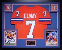"""John Elway Signed Broncos 35"""" x 43"""" Custom Framed Jersey (JSA COA) at PristineAuction.com"""