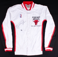 Michael Jordan Signed LE Authentic Mitchell & Ness Chicago Bulls Warm Up Jacket (UDA COA)