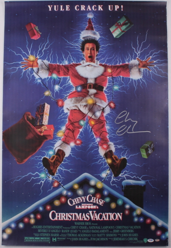 "Chevy Chase Signed ""National Lampoon's Christmas Vacation"
