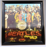 """The Beatles """"Sgt. Pepper's Lonely Hearts Club Band"""" 24x24 Custom Framed Lenticular Album Cover at PristineAuction.com"""