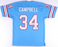 """Earl Campbell Signed Oilers Jersey Inscribed """"HOF 91"""" (JSA COA) at PristineAuction.com"""