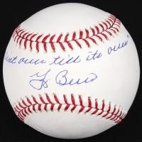 "Yogi Berra Signed OML Baseball Inscribed ""It Aint Over Till Its Over"" (JSA COA) at PristineAuction.com"