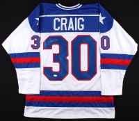 """Jim Craig Signed USA """"Miracle on Ice"""" Jersey (JSA COA) at PristineAuction.com"""
