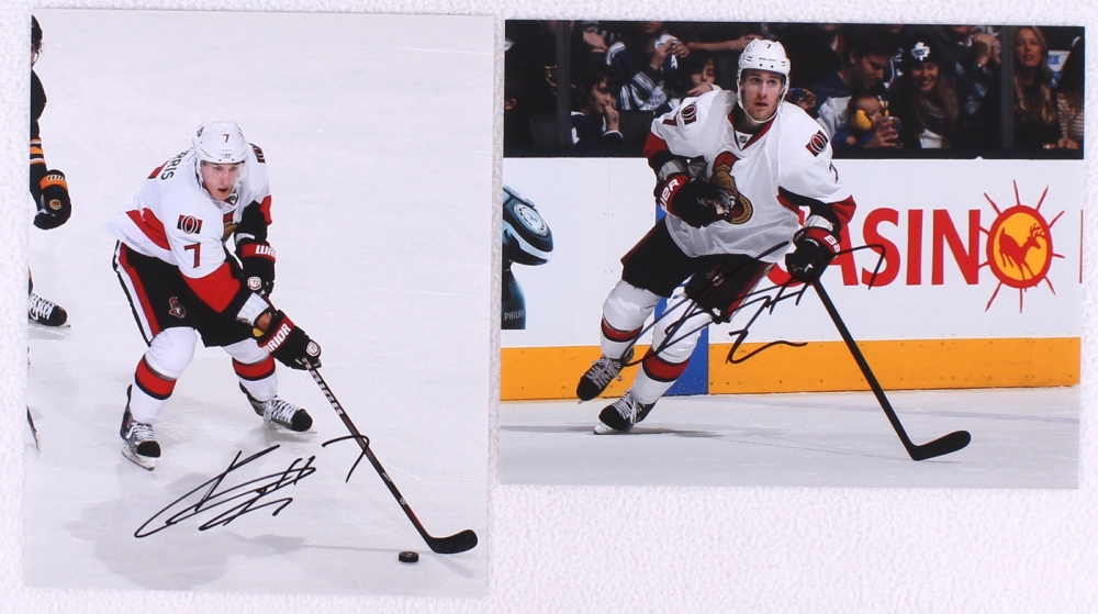 lot of 2 kyle turris signed senators 8x10 photos pa loa. Black Bedroom Furniture Sets. Home Design Ideas