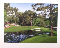 """Danny Day Signed The Masters """"The 16th at Augusta"""" Golf Course 31x25 LE Lithograph #0626/1000 (COA) at PristineAuction.com"""