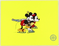 "Mickey & Minnie Mouse ""On Ice"" Walt Disney Limited Edition Animation Serigraph Cel at PristineAuction.com"