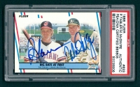 1988 Fleer #633 Pat Tabler / Mark McGwire Signed Baseball Card (PSA Encapsulated) at PristineAuction.com