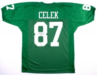 Brent Celek Signed Eagles Throwback Jersey (SI COA) at PristineAuction.com