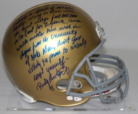 """Rudy Ruettiger Signed Full-Size Notre Dame Helmet with """"Full Speech"""" Extensive Inscription (Steiner COA) at PristineAuction.com"""