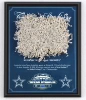 Dallas Cowboys Texas Stadium Final Season 8x10 Plaque with Game-Used Special End Zone Turf (Steiner COA) at PristineAuction.com