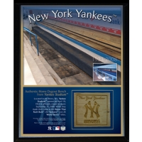 New York Yankees 8x10 Plaque with Game-Used Piece of Bench from Yankee Stadium (Steiner COA) at PristineAuction.com