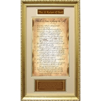 The Original 13 Rules of Golf Custom Framed 12x20 Collage at PristineAuction.com