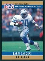 Barry Sanders 1990 FACT Pro Set Cincinnati #1 W1 at PristineAuction.com